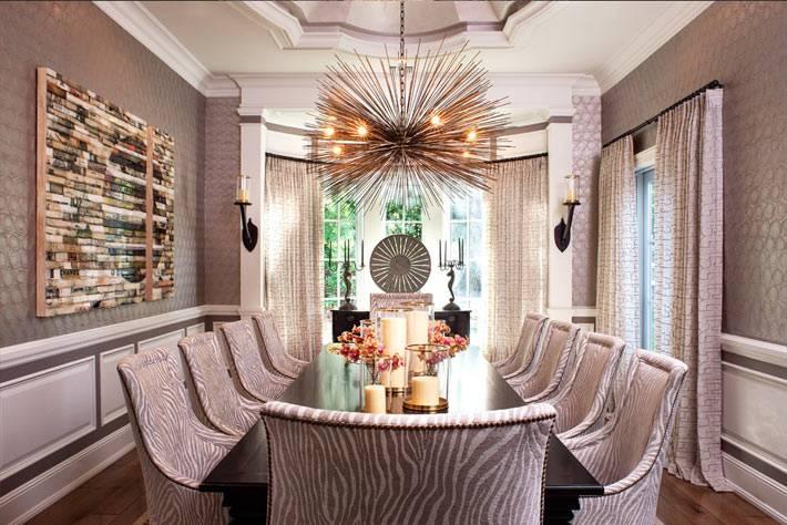 серебристо-серая гамма для оформления столового зала фото