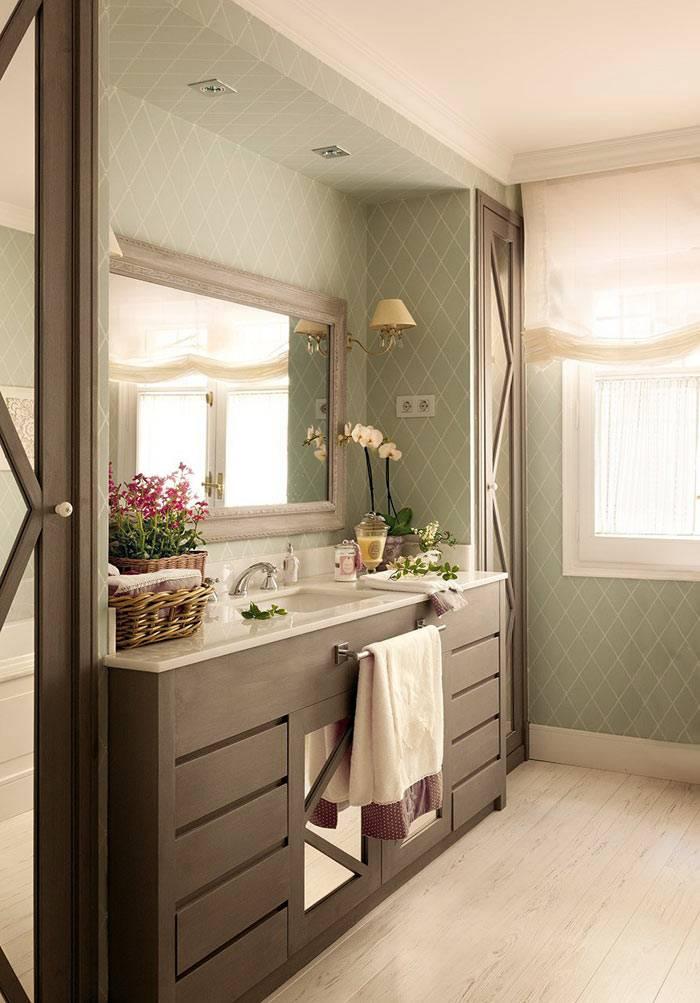 дизайн интерьера ванной комнаты с окном фото