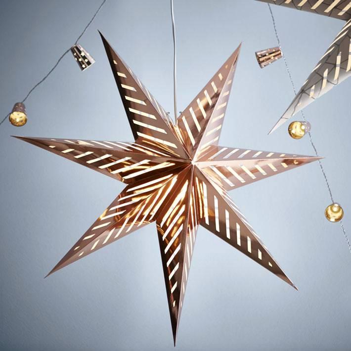 бумажные светящиеся звезды от икеа