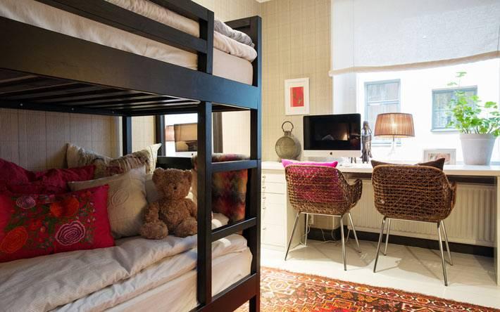 как организовать детскую спальню для двух детей