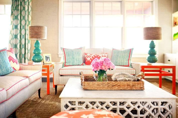 симметричная расстановка мебели