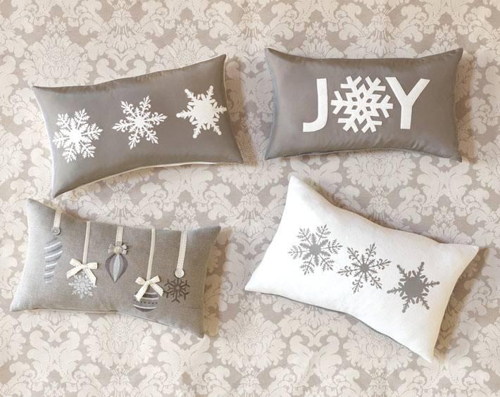 подушки с новогодний декором фото