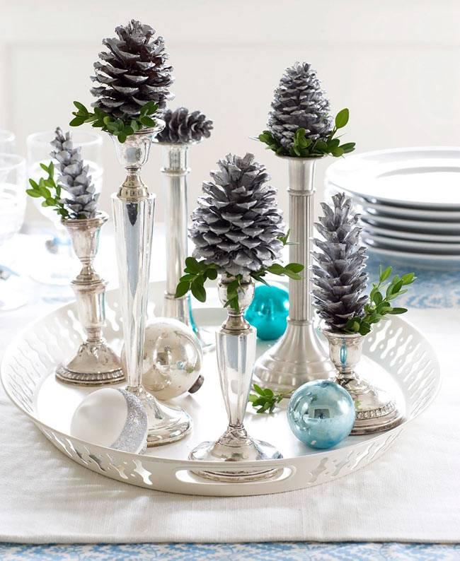 Красивые идеи новогодних украшений в интерьере фото