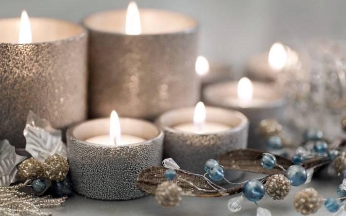 Идеи декора новогодних свечей и подсвечников