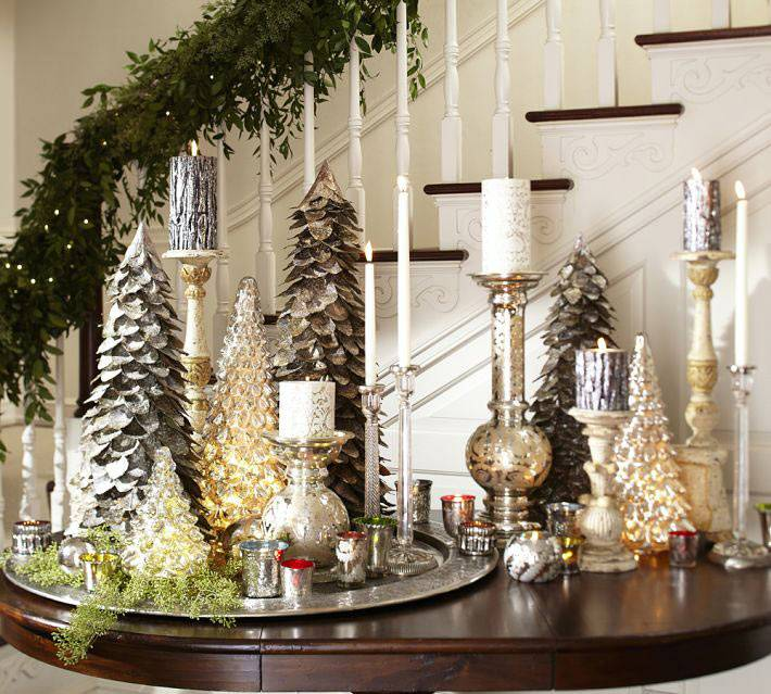 Красивые новогодние композиции из свечей