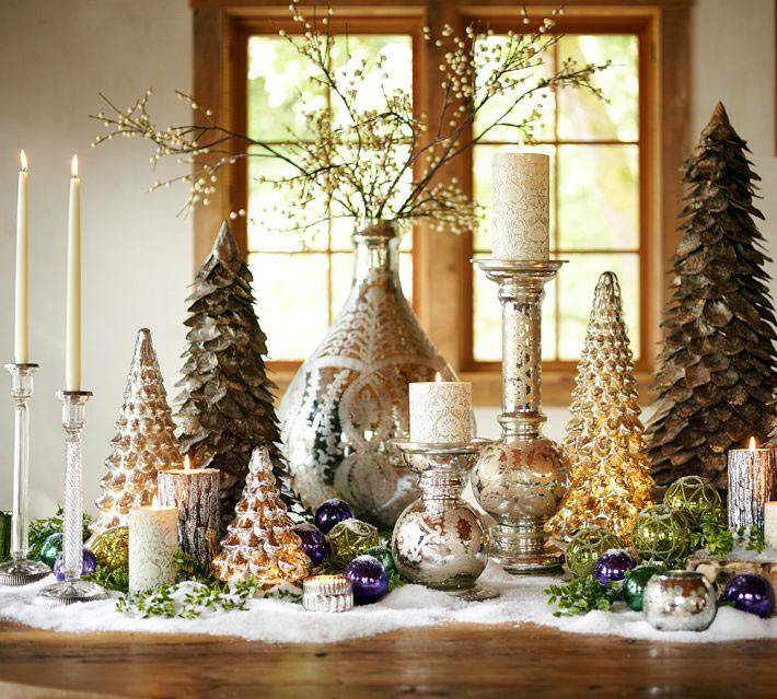 Новогодние свечи и подсвечники фото
