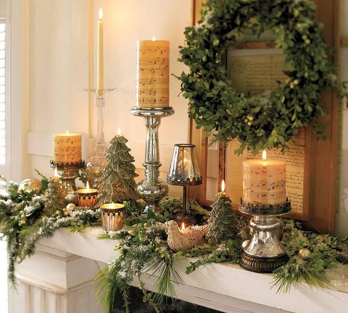Украшение свечей нотными листами для нового года