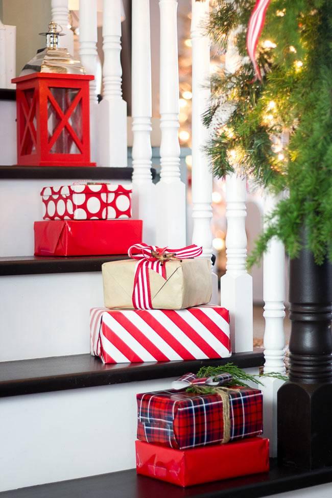 Подарки как элемент новогоднего декора