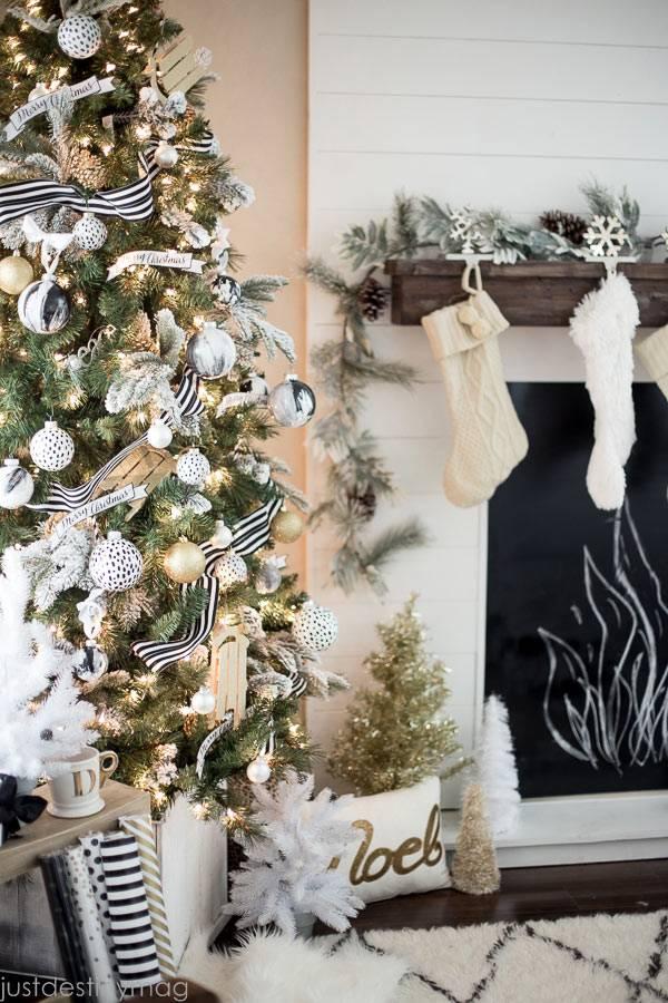 Красивое оформление новогоднего интерьера