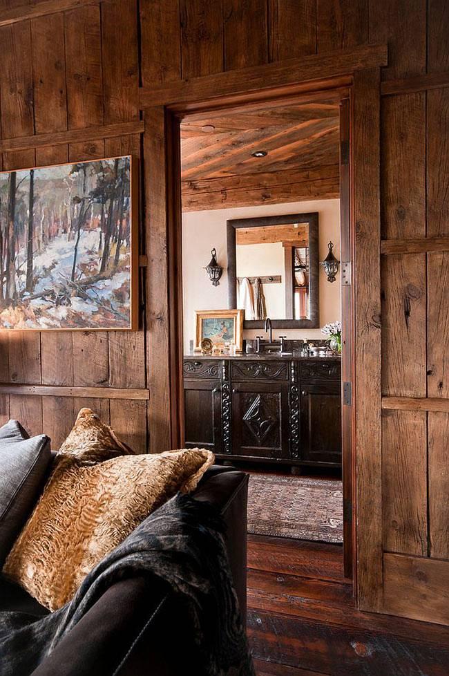 красивый интерьер дома в горах