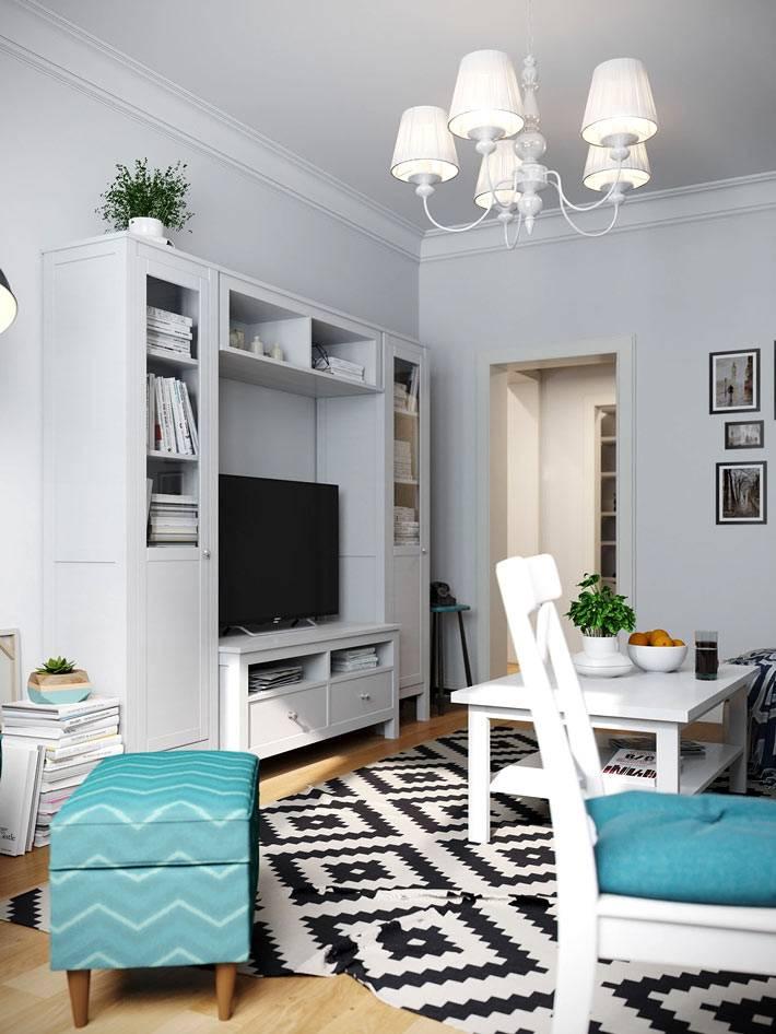 мебель и ковер из ИКЕА в оформлении квартиры в москве