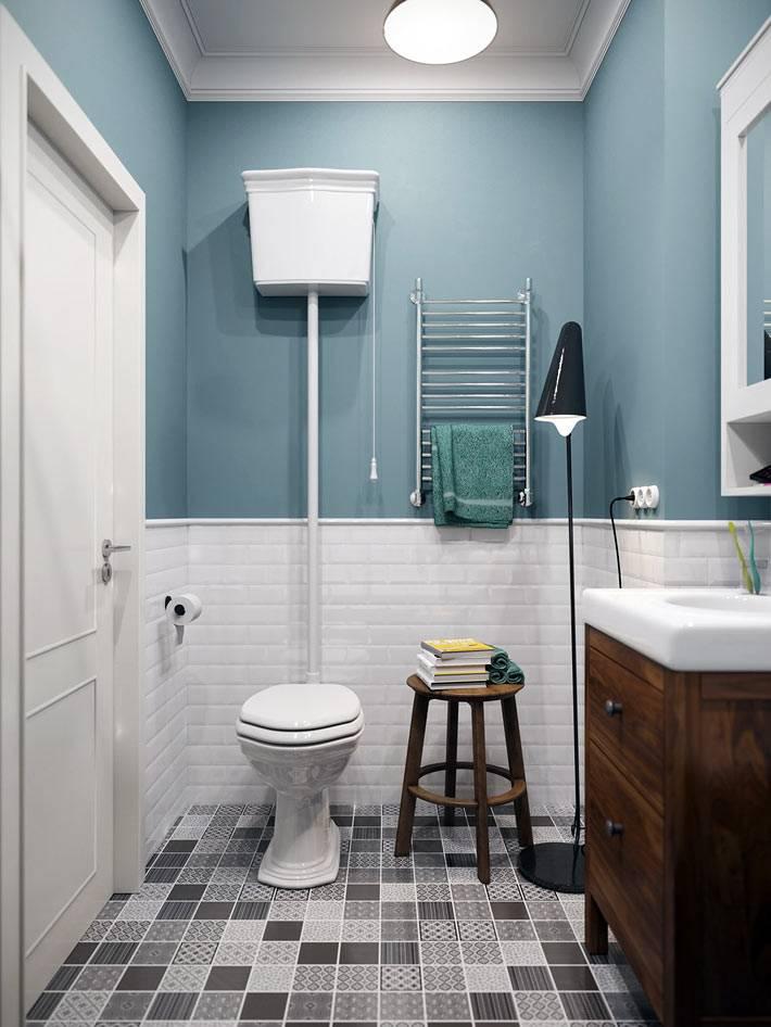 плитка на пол ванной в стиле пэчворк фото