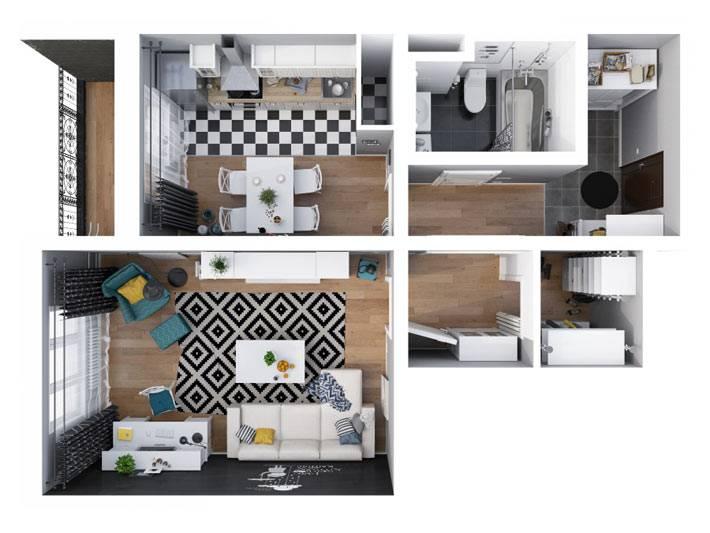 планировка компактной квартиры фото