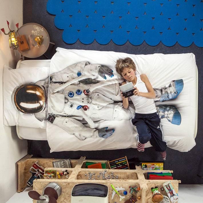 Детская постель для будущего космонавта от Snurk