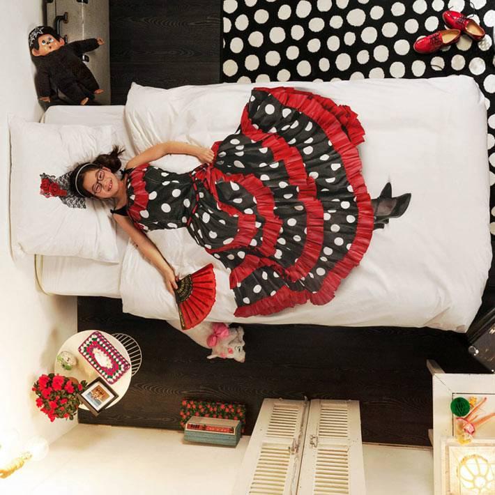 Детская постель с рисунком танцовщицы фламенко от Snurk