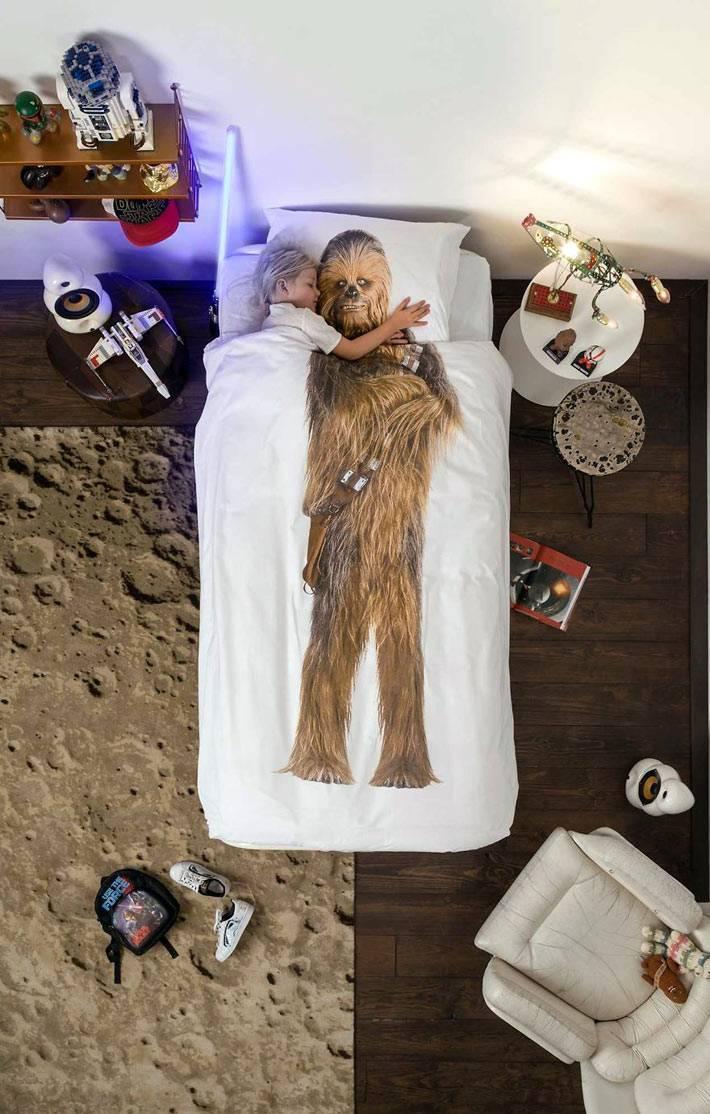 Креативный принт на детском постельном белье Snurk
