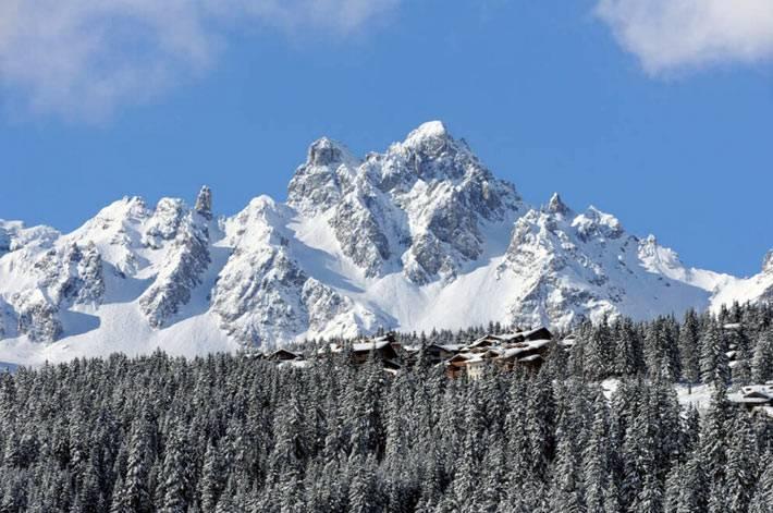 красивые зимние французские альпы фото