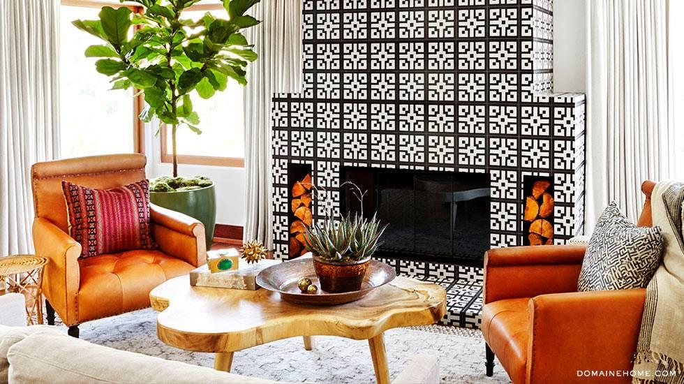 Креативный микс в дизайне интерьера спальни Джессики Альбы