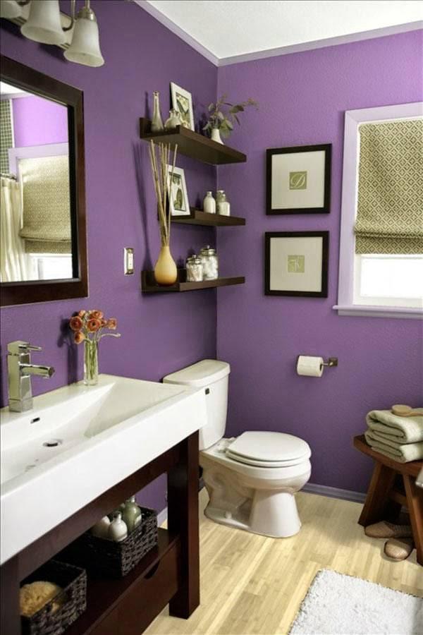 стены ванной фиолетового цвета