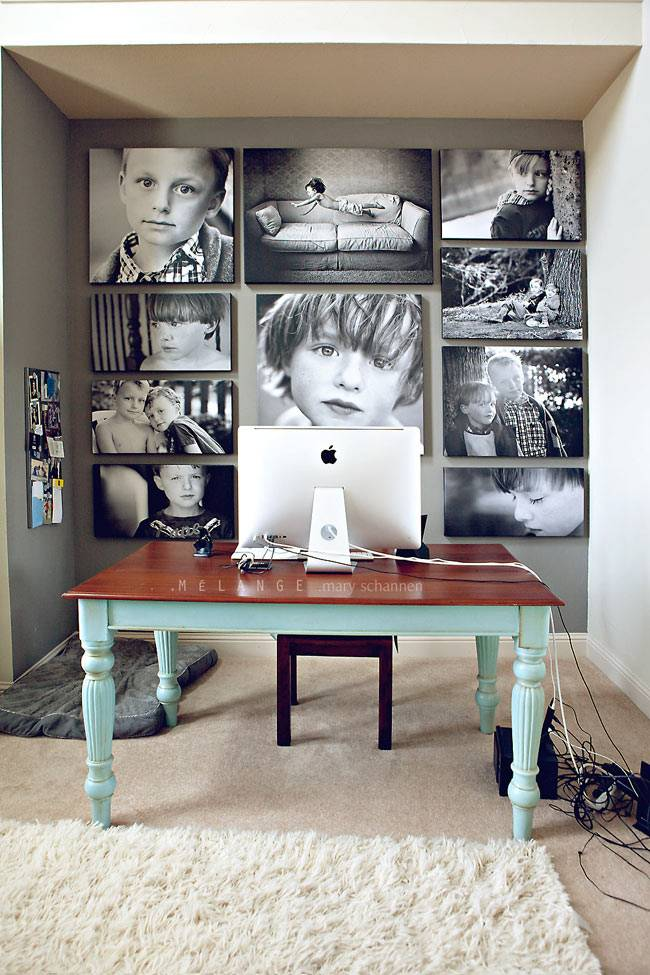 детские черно-белые фотографии в интерьере