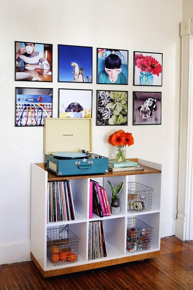 квадратные фотографии в интерьере квартиры фото