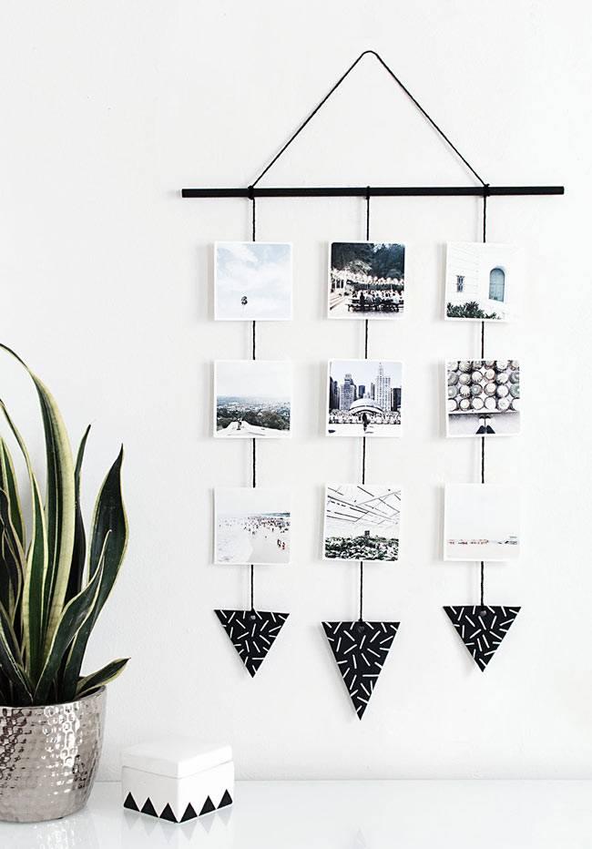 креативное размещение фотографий в доме
