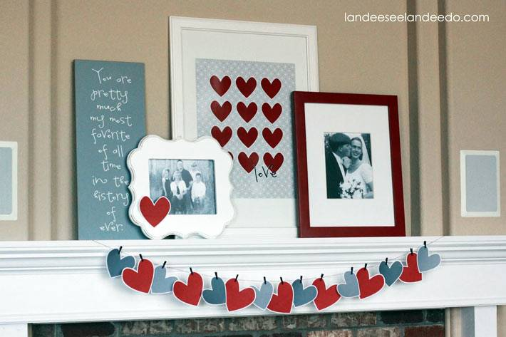любовные детали в оформления дома к празднику
