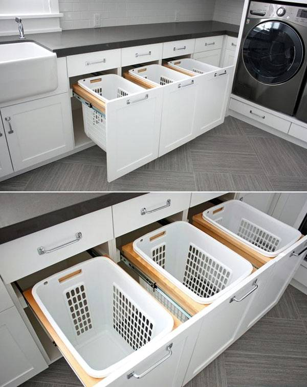 пластмассовые корзины для хранения белья в ящиках