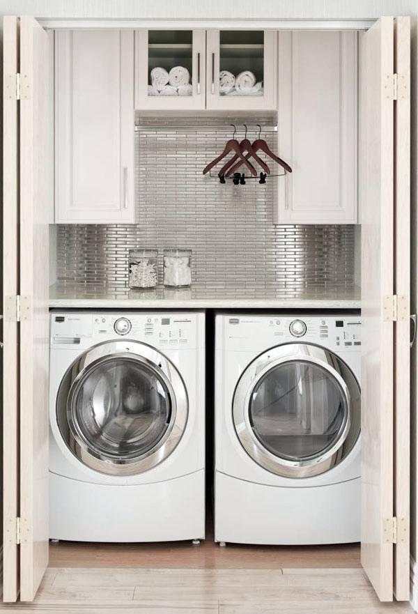 как спрятать стиральные машинки в нише ванной комнаты