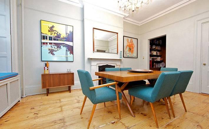 Мебель для столовой комнаты в ретро-стиле