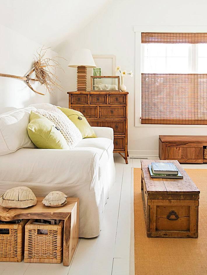 натуральные материалы в оформлении интерьера дома фото