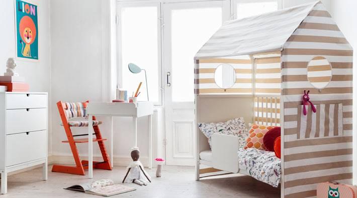 Кроватка для ребенка с навесом фото