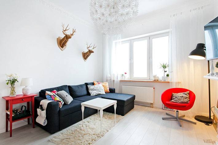 скандинавский стиль в интерьере квартиры в Киеве