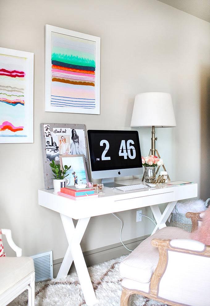 Органичное рабочее место для модного блоггера