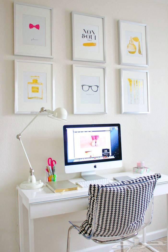 Белый цвет в оформлении рабочего пространства домашнего офиса