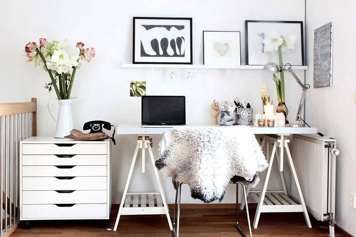Стильный дизайн рабочего места на дому