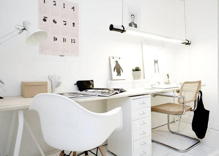 Скандинавское направление в дизайне рабочего места для двух человек
