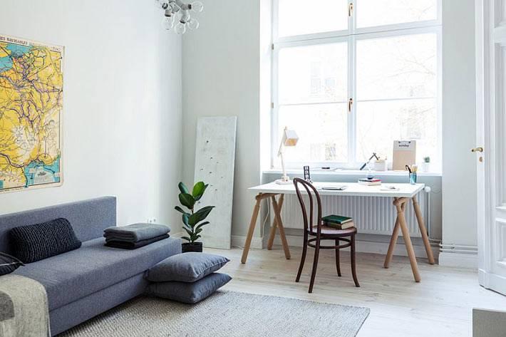 Как совместить гостиную и домашний офис