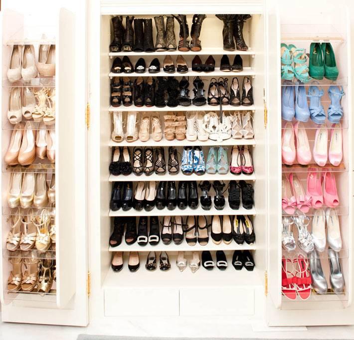 Идеи - как компактно и красиво хранить обуви в интерьере