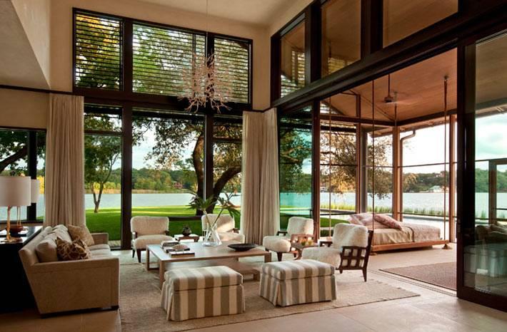 загородный дом со стеклянными стенами фото