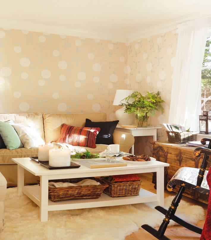 дизайн интерьера гостиной в загородном доме директора ИКЕА