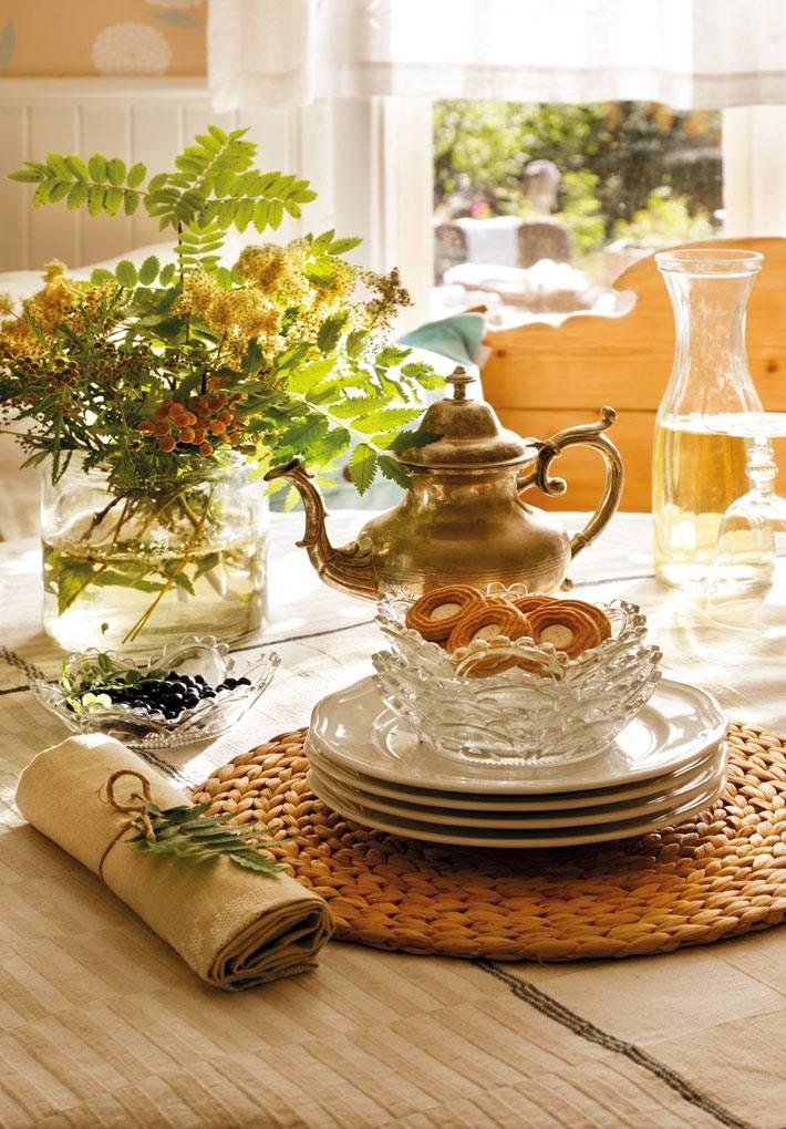 душевные детали и цветы в декоре кухни фото