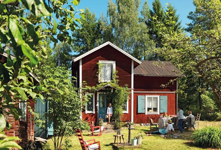 деревянный загородный дом директора икеа