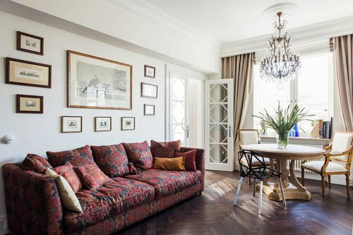красивая квартира в классическом стиле в Москве