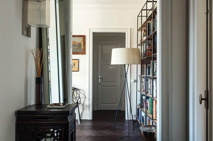 просторный интерьер квартиры архитектора в Москве
