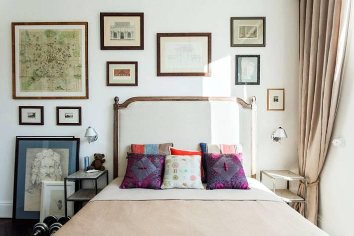 уютный интерьер спальни для холостяка фото