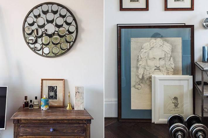 старинная мебель и необычный дизайн интерьера квартиры в Москве