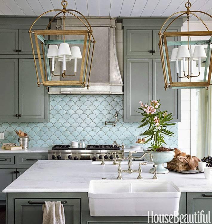 Интерьер кухни серого цвета идеи
