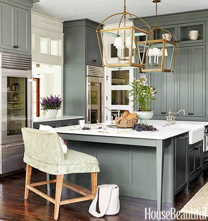 Мебель для кухни серого цвета фото