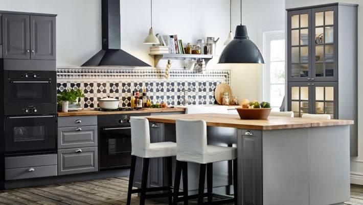 Серый цвет в оформлении интерьера кухни